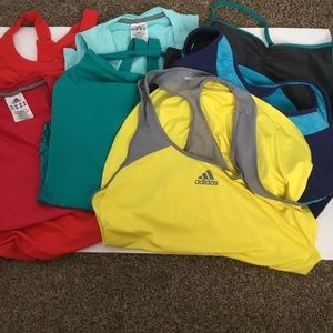 Tops - Lot 7 mixed sizes Workout tank tops Sizes Sm-XL